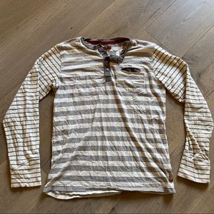 7 for all Mankind striped cozy long sleeve